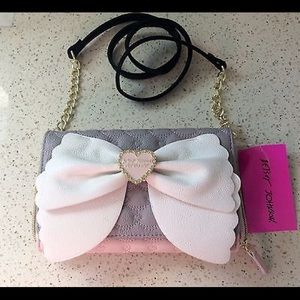 Betsey Johnson Quilted Crossbody /Wallet Clutch